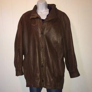 Women's Jacqueline Ferrar Leather Coat
